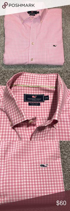Vineyard Vines oxford XL Vineyard Vines oxford XL mint condition.  Husband wore it once- need a size smaller, unfortunately Vineyard Vines Shirts Dress Shirts