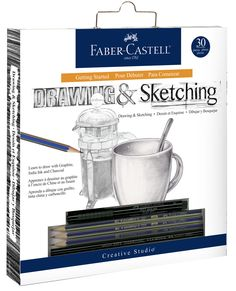 Learn basic drawing skills using premium graphite, India ink and charcoal with this 11 piece beginning artist's set! Basic Drawing, Drawing Skills, Drawing Sketches, Drawings, Sketching, Drawing Techniques, Drawing Art, Pencil Eraser, Pencil Sharpener