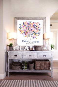 Framed tree wedding guestbook : All The Boho Wedding Inspiration You Could Possibly Need