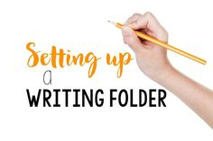 Setting up writing folders with your students.