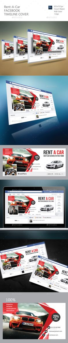 Rent A Car Facebook Timeline Cover Template PSD. Download here: https://graphicriver.net/item/rent-a-car-facebook-timeline-cover/17674006?ref=ksioks