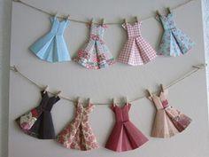 VINTAGE ORIGAMI DRESS BUNTINGS