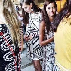 Backstage at Tory Burch #NYFWSS15 http://seen.co/event/mercedes-benz-fashion-week-ss15-day-5--2014-4698/highlight/44357
