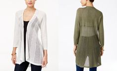 Style & Co. High-Low Lightweight Cardigan, Only at Macy's - Sweaters - Women…