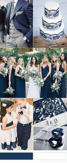 Most Gorgeous Navy and White Wedding Palette Ideas