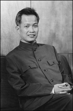 Khieu Samphan - Pol Pot's right-hand man in the Khmer Rouge. Chief architect of the Cambodian genocide which murdered over 1,700,000 Cambodian, Vietnamese, and Chinese civilians. Backed by the CIA, MI6, and the military regime of Thailand to launch a war of aggression on neighboring communist Vietnam.