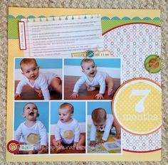 Scrapbook layout, 5 Photos, 3 Portraits, 2 Landscapes, 1 page