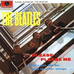 <b>Please Please Me</b>: Shot in the stairwell of the EMI offices in Manchester Square, surrealist artist Angus McBean was enlisted for this not-so-surreal shot, featuring John, George, Ringo and Paul grinning down from above. It was nearly so different, though: somewhere out there are illustrations by Macca for the sleeve, back when the LP was prospectively punnily titled 'Off The Beatle Track'.
