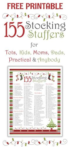 155 Awesome Stocking Stuffer Ideas with Free Printable - Great ideas divided by age!