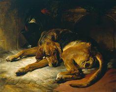Sleeping Bloodhound exhibited 1835 by Sir Edwin Henry Landseer 1802-1873