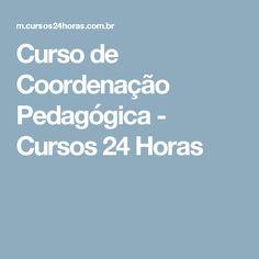 Curso de Coordenação Pedagógica - Cursos 24 Horas