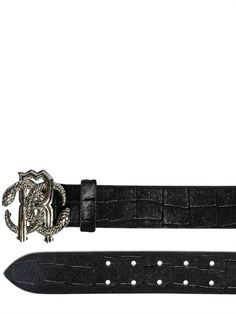 da4be9906b3 40MM CROC LASER CUT PONYSKIN BELT by Roberto Cavalli. This bad boy goes for   695