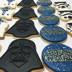 """246 Likes, 8 Comments - P E T I T C A K E S  P E R T H (@petitcakes_perth) on Instagram: """"May the fourth be with you! Couldn't let today go by without posting some Star Wars cookies!"""""""
