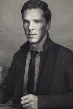Benedict Cumberbatch in black & white.