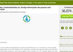 Petição para investigar Tudo Sobre Todos já tem 35 mil assinaturas (Crédito: Reprodução)