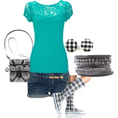Teal and Plaid