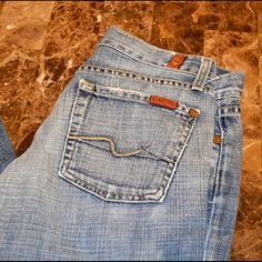 """7 For all Mankind Bootcut Jeans 33"""" inseam 7 For all Mankind 7FAMK Distressed Bootcut Jeans Size 26 Approx. 33"""" inseam  Item Location OutOB  7 for all Mankind Jeans Boot Cut"""