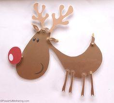 Printable Reindeer – Christmas Busy Bags
