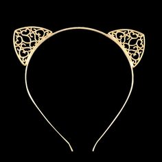 84 sold in 30 days for 1.6$ on AliExpress. Click image to visit --metal Women Hair Hoops Cat Ears Hairband Crown Tiara headband Rhinestone Princess Hollow Hairband Gold Plated Hair Jewelry