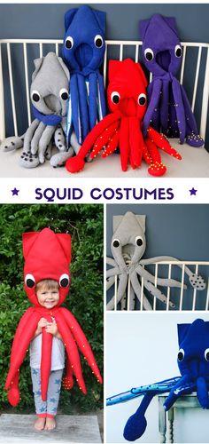 45c1ca6f Kids Squid Costume | Dress Up, Montessori, Squid Hat, Handmade, Sea Life,  Parties, Dress Up, Squid Outfit, Children's Fancy Dress, Splatoon