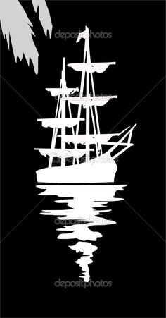 ideas for boats art painting pirate ships Stencil Patterns, Stencil Art, Stencil Designs, Silhouette Art, Silhouette Cameo Projects, Boat Art, Wood Burning Patterns, Scroll Saw Patterns, Pyrography