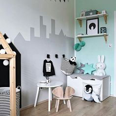 """142 Likes, 2 Comments - Stylish PlayMats Babies & Kids (@cdesignmats) on Instagram: """"Just the right mix of mint and black Featured: @kajastef . . . #kidsroomdecor #kidsroom…"""""""