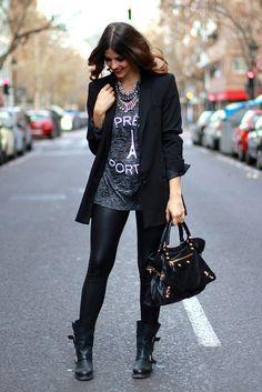 Fashion Cognoscente: Fashion Cognoscenti Inspiration: Black and White Style Trendy Taste, Fashion Corner, Black And White Style, Fashion Outfits, Womens Fashion, Net Fashion, Fall Outfits, Style Fashion, Casual Outfits
