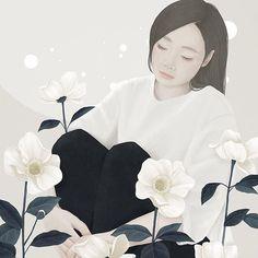 Tu recepcja - Illustrations by Mi-Kyung Choi aka Ensee Art And Illustration, Weird Drawings, Art Drawings, Korean Art, Asian Art, Community Art, Love Art, Art Girl, Illustrators
