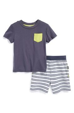 Splendid Active T-Shirt & Stripe Terry Shorts (Baby Boys) available at #Nordstrom