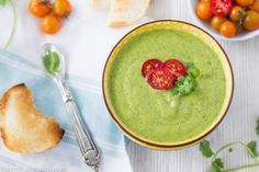 Chilled avocado soup with jalapeño and lime [Vegan]