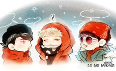 Exo Showtime episode 6 D.O, Tao and Baekhyun fanart