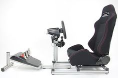 4 Play Racing Video Game Driving Simulator Sim Race Chair Seat Rig Cockpit Frame | eBay