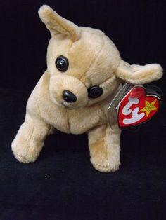 NEW 1998 Tiny the Chihuahua Dog Ty Beanie Baby Babies RARE Typo Misprint  Gasport Ty da173dfd13cc