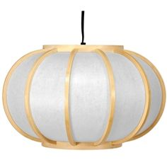 Lightweight Japanese style wood and paper hanging lantern. The thin paper shade emits a warm, soft light while the open center makes for quick and easy light bulb changes. Wired for a standard size American light bulb. Does not need to be professionally installed but does require a hook or pole for hanging. A gentle but distinctly Oriental lighting solution that fits a range of interior décor, from traditional Asian to casual modern or minimalist.