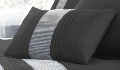 Kimberley Black Filled Boudour Scatter Cushion, Oblong 32 x 50 Diamante Strip For Wow Factor, Black Wow Factor, Scatter Cushions, Sofa Chair, Amazon, Bedroom, Cover, Kitchen, House, Furniture