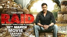 Ajay Devgan is playing lead role in Raid movie which is directed by Raj Kumar. It is Hindi Action Movie release on 15 March 2018 in India. For more you can full hd movies download without any problem.