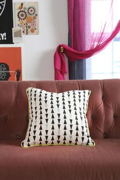 Soft cotton arrow pillow from Assembly Home. #urbanoutfitters