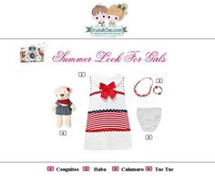 #Summer #look for #girls from #Conguitos #TucTuc #Calamaro and #Haba. Perfect for summer special days as well as for #casual #outfits. Check at www.kidsandchic.com/girl    #girlsclothing #girlsfashion #kidsfashion #trendychildren #kidsclothing #shoppingbarcelona #dress #summerdress #bow #bear #yewerly #knickers #toys #whitecolor #redcolor #navycolor