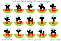 Mickey Mouse Clubhouse Alpha <3  ~ FREE Digital Bottle Cap Images!! https://www.facebook.com/thetrendyowlUS http://www.thetrendyowl.com