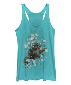 Look what I found on #zulily! Tahi Blue Ewok in the Flowers Racerback Tank - Women by Fifth Sun #zulilyfinds