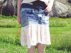 Vyötärökaitaleista hame - VillaNanna - DIY - Refashion, Lace Skirt, Lifestyle, Skirts, Diy, Bricolage, Skirt, Do It Yourself