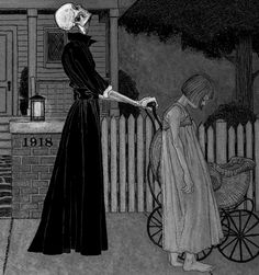 early 1900's macabre illustration