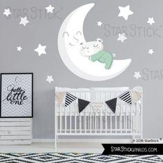 Vinilo bebé Osito en la luna - Vinilo infantil