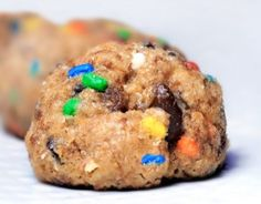 Cake Batter Chocolate Chip Cookie Dough Balls... single-serving recipe! http://chocolatecoveredkatie.com/2011/04/06/funfetti-cookie-dough-balls/
