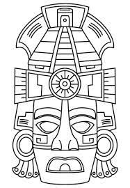 Image result for cool. mayan masks school projects