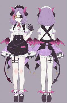 Cute Anime Character, Female Character Design, Cute Characters, Character Design Inspiration, Character Concept, Anime Characters, Character Art, Anime Oc, Anime Demon