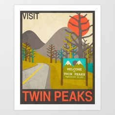 Oh man, I want one! Visit Twin Peaks Art Print by Jazzberry Blue - $19.00