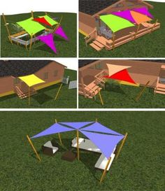 How to plan Shade Sail design and instructions When early inside idea, the particular pergola Deck Shade, Sun Sail Shade, Backyard Shade, Outdoor Shade, Pergola Shade, Shade Sails, Bache Pergola, Garden Sail, Shade Sail Installation