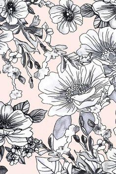 Pattern wallpaper, glitter background, floral illustrations, illustration a Floral Print Fabric, Motif Floral, Floral Prints, Print Fabrics, Floral Patterns, Floral Design, Flower Backgrounds, Wallpaper Backgrounds, Floral Wallpapers
