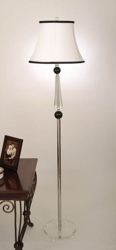 Brooklyn Crystal Metal Shade Bell Floor Lamp